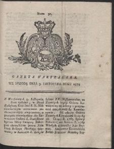 Gazeta Warszawska. R.1774 Nr 90