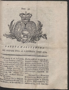 Gazeta Warszawska. R.1774 Nr 92