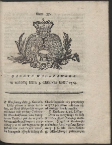 Gazeta Warszawska. R.1774 Nr 97