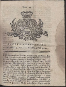 Gazeta Warszawska. R.1774 Nr 99