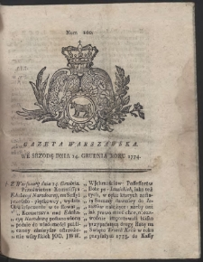 Gazeta Warszawska. R.1774 Nr 100