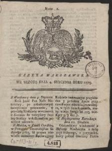Gazeta Warszawska. R.1775 Nr 1