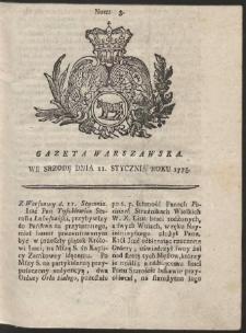 Gazeta Warszawska. R.1775 Nr 3