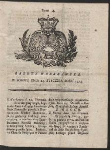 Gazeta Warszawska. R.1775 Nr 4