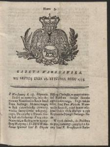 Gazeta Warszawska. R.1775 Nr 5