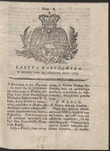 Gazeta Warszawska. R.1775 Nr 6