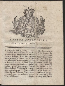 Gazeta Warszawska. R.1775 Nr 11