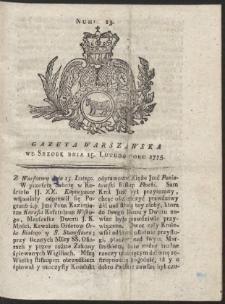 Gazeta Warszawska. R.1775 Nr 13