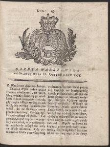 Gazeta Warszawska. R.1775 Nr 15
