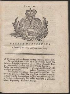 Gazeta Warszawska. R.1775 Nr 16