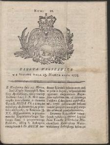 Gazeta Warszawska. R.1775 Nr 21