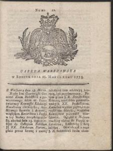 Gazeta Warszawska. R.1775 Nr 22
