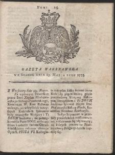 Gazeta Warszawska. R.1775 Nr 25