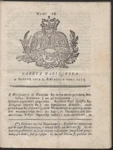 Gazeta Warszawska. R.1775 Nr 28