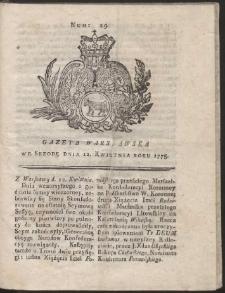 Gazeta Warszawska. R.1775 Nr 29