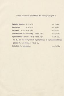 [Listy Joachima Lelewela do różnych osób z lat 1833-1860 wraz z jego notatkami]