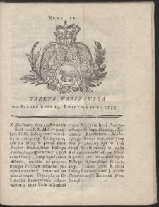 Gazeta Warszawska. R.1775 Nr 31