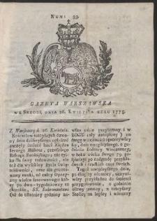 Gazeta Warszawska. R.1775 Nr 33