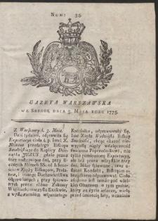 Gazeta Warszawska. R.1775 Nr 35
