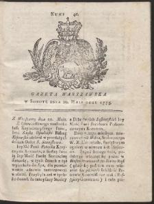 Gazeta Warszawska. R.1775 Nr 40