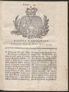 Gazeta Warszawska. R.1775 Nr 42