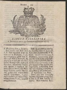 Gazeta Warszawska. R.1775 Nr 44