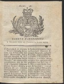 Gazeta Warszawska. R.1775 Nr 48