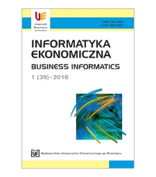 Spis treści [Informatyka Ekonomiczna = Business Informatics, 2016, Nr 1 (39)]