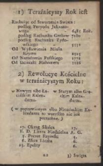 Kalendarz Polityczny Dla Krolestwa Polskiego Y Wielkiego Xięstwa Litewskiego Na Przybyszowy Rok Panski 1772 podług Merydyanu Warszawskiego Ułozony