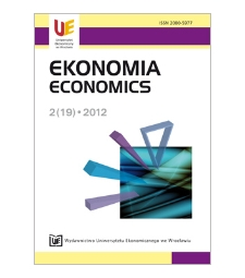 Spis treści [Ekonomia = Economics, 2012, Nr 2 (19)]