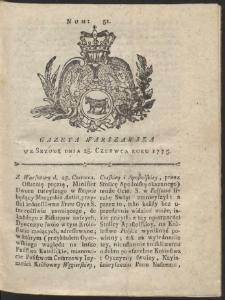 Gazeta Warszawska. R.1775 Nr 51