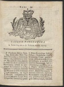 Gazeta Warszawska. R.1775 Nr 54