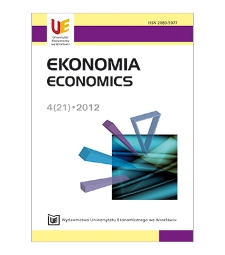 Spis treści [Ekonomia = Economics, 2012, Nr 4 (21)]