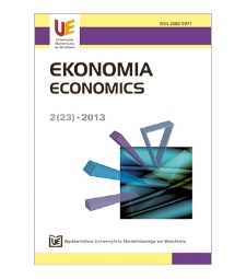 Spis treści [Ekonomia = Economics, 2013, Nr 2 (23)]