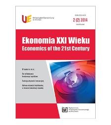 Spis treści [Ekonomia XXI Wieku = Economics of the 21st Century, 2014, Nr 2 (2)]