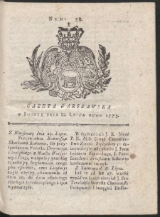 Gazeta Warszawska. R.1775 Nr 58