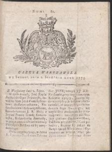 Gazeta Warszawska. R.1775 Nr 61