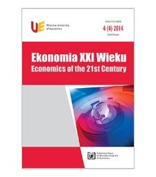 Spis treści [Ekonomia XXI Wieku = Economics of the 21st Century, 2014, Nr 4 (4)]