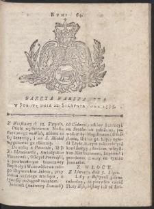 Gazeta Warszawska. R.1775 Nr 64