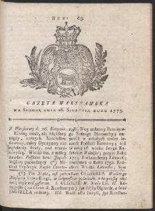 Gazeta Warszawska. R.1775 Nr 65