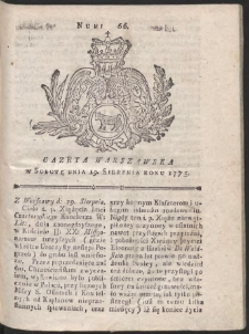 Gazeta Warszawska. R.1775 Nr 66