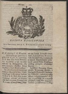 Gazeta Warszawska. R.1775 Nr 71