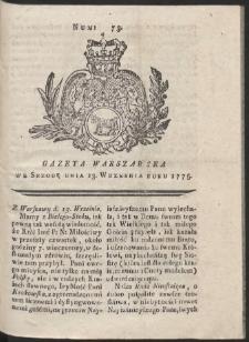 Gazeta Warszawska. R.1775 Nr 73