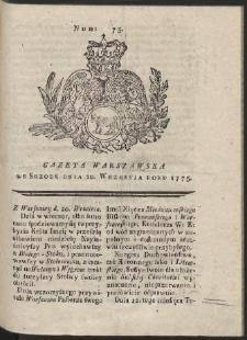 Gazeta Warszawska. R.1775 Nr 75