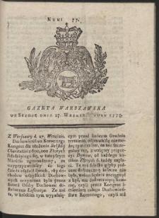 Gazeta Warszawska. R.1775 Nr 77