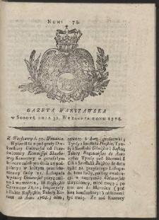 Gazeta Warszawska. R.1775 Nr 78