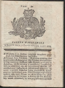 Gazeta Warszawska. R.1775 Nr 80