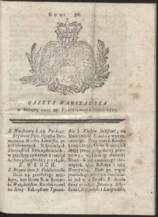 Gazeta Warszawska. R.1775 Nr 86