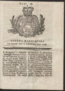 Gazeta Warszawska. R.1775 Nr 87