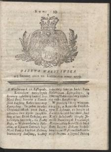 Gazeta Warszawska. R.1775 Nr 93